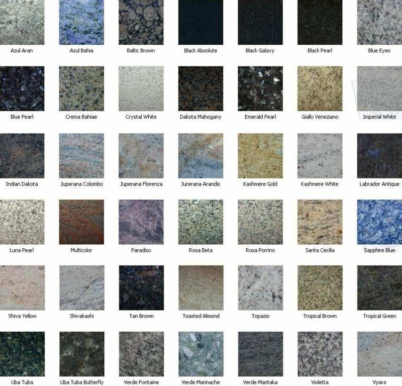 Granite Colors And Names : Granite